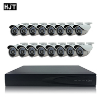 H.265 5.0MP IP Camera Kit Metal Outdoor with 25ch NVR Onvif Private Protocol CCTV System Network P2P Surveillance Remote View