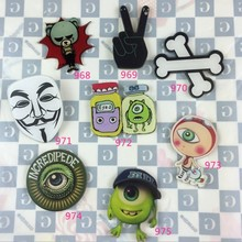 1 PC Lovely Painting Big eyes monster Badges for Children Clothes Acrylic Badges Kawaii Icons on Backpack Pin Brooch Badge(China)
