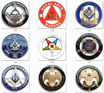 10pcs/lot Masonic Freemasonry Square and Compass Freemason Auto Emblem Car decal 3inch / 7.5cm emblem