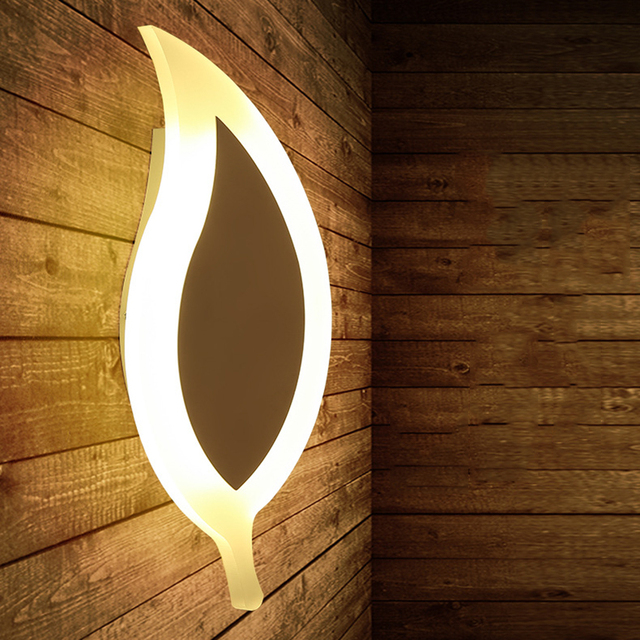 Nordic Modern Led Wall Lights Leaf Wall Lamp for Living Room Hallway Bedroom Surface Mounted Home Decoration aplique luz pared