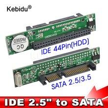 Kebidu IDE 44 pin 2.5 Cal na SATA Adapter PC konwerter 1.5Gbs wsparcie ATA 133 100 HDD CD DVD szeregowy dysk twardy hurtownia