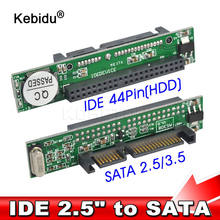 kebidu IDE 44 pin 2.5 Inch to SATA PC Adapter Converter 1.5Gbs Support ATA 133 100 HDD CD DVD Serial Hard Disk wholesale