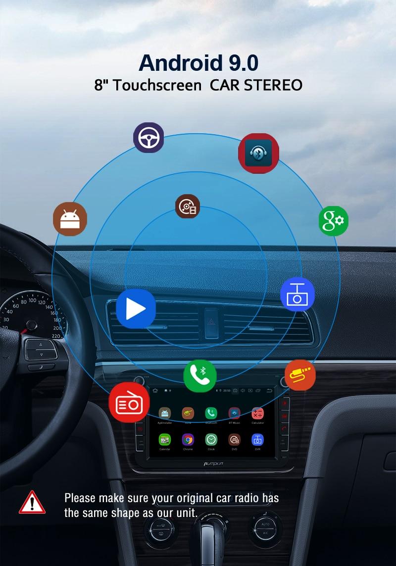 Pumpkin Quad core 2 Din 8''Autoradio GPS Navigation Android