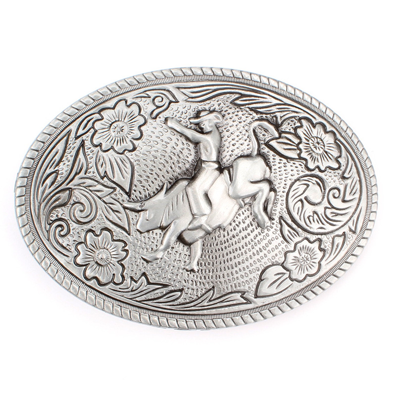 Bullfighting And Leisure Belt Buckle Ride A Cow Man Buckle
