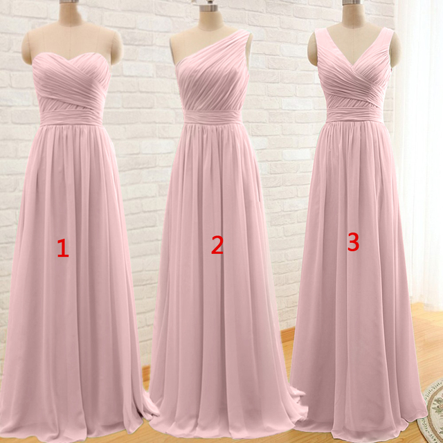 2019 Long Cheap Mint Green Bridesmaid Dresses Under 50 Floor Length Chiffon a-Line Vestido De Madrinha De Casamento Longo