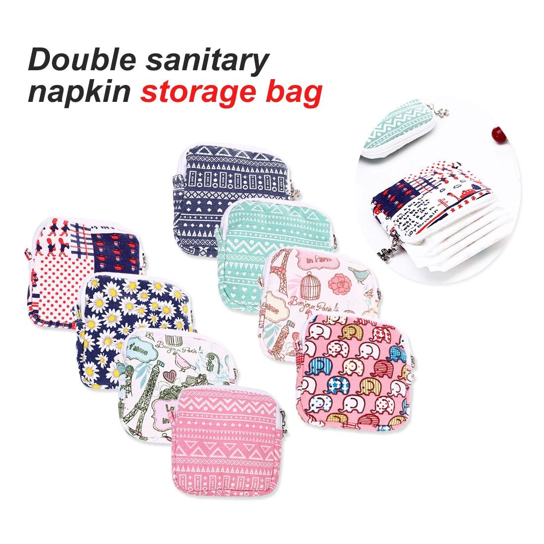Multi-functional Wet Bag Reusable Bag For Mama Cloth Pads Menstrual Pad Sanitary Pads Bags Can Be Coin Makeup Bag Makeup Tool