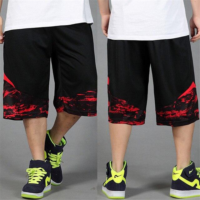 New thời trang nam mùa hè mỏng xu hướng giản dị thẳng quần của người đàn ông capris hiphop lỏng cộng với kích thước XL 2XL 3XL 4XL
