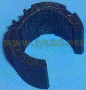 C2858-40016 Carriage bushing - Supports front of carriage on slider rod for HP DesignJet 650C 700 750C original used тестер мегеон 40016