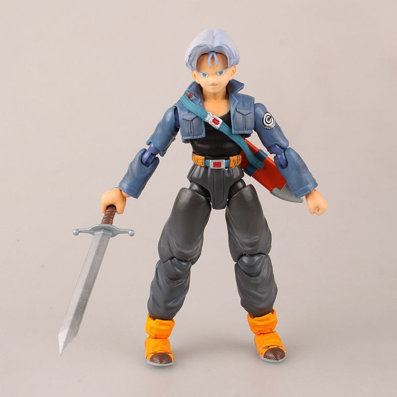 Anime Dragon Ball Super  Trunks PVC Action Figure Collectible Model Doll Toy 13cm SHF FREE SHIPPING