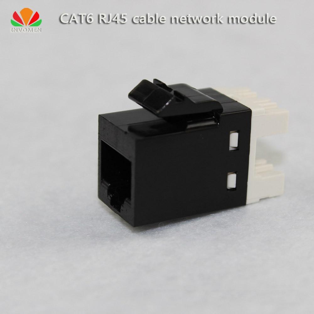 2pcs/lot UTP CAT6 network module RJ45 connector information socket Computer Outlet Cable adapter IO Keystone Jack stk4234mk5 module 2pcs lot