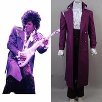 Prince rogers nelson pioggia viola halloween costume cosplay uniforme veste costume camicia bianca set completo di vestiti