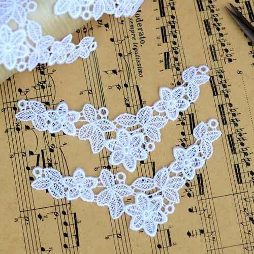 1/متر بليتش الأبيض زهرة فاين لصق عرض 3*10.5 cm