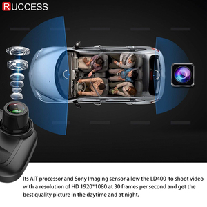 Image 3 - Ruccess Mirror Recorder Car Radar Detector for Russia Full HD 1080P Dual Lens Camera Registrar 3 in 1 DVR Anti Radar with GPS