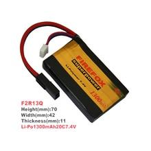 купить 1pcs 100% Orginal FireFox 7.4V 1300mAh 20C Li Po AEG Airsoft Battery F2R13Q по цене 2083.55 рублей