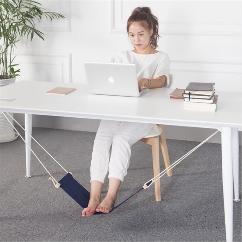 Portable Office Foot Hammock Mini  Feet Rest Stand Desk Footrest Hamac Hangmat Study Table Hang Leisure Hanging Chair Orange