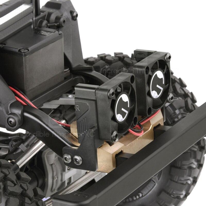 1 ensemble Grille d'admission d'air ventilateur de refroidissement 3S Lipo Simulation réservoir d'eau ventilateur de radiateur pour unité tactique Landrover Defender RC voitures