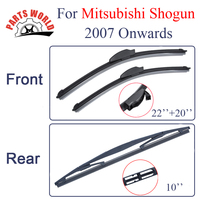 Group Silicone Rubber Front And Rear Wiper Blades For Mitsubishi Shogun 2007 Onwards Windscreen Wipers Car