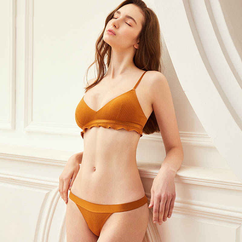 CINOON New High Quality Cotton Underwear Set Fashion Striped Bra Set Noble Girl Lingerie Set Push Up Bra Sexy Bra And Panty Sets