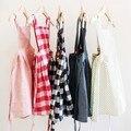 2016 Ins жаркое лето платье ребенка, Мило и сладкий детская одежда, Малыша девочек подтяжк платья решетки розовый и красный принцесса Clothings
