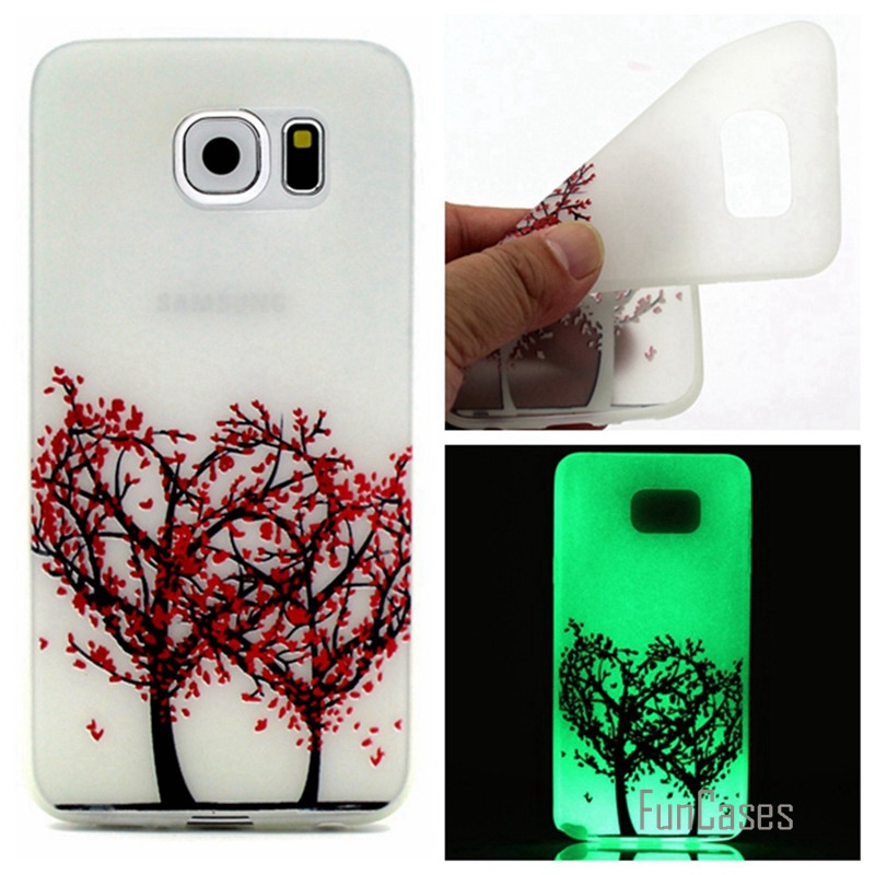 Luminous night Case For Samsung Galaxy S7 G930 G9300 Fluorescence Transparent Soft TPU Back Cover Phone Protective Shell