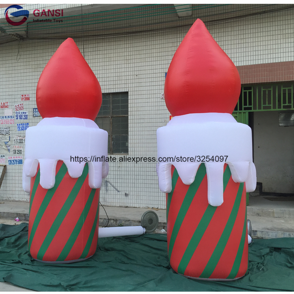 Party event wedding decoration inflatable candle cone led light inflatable christmas candle for festival Party event wedding decoration inflatable candle cone led light inflatable christmas candle for festival