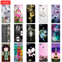 for Huawei P Smart 2018 Case TPU Soft Silicone Transparent Back Cover Phone Case Huawei P Smart Cover FIG-LX1 Enjoy 7S Case