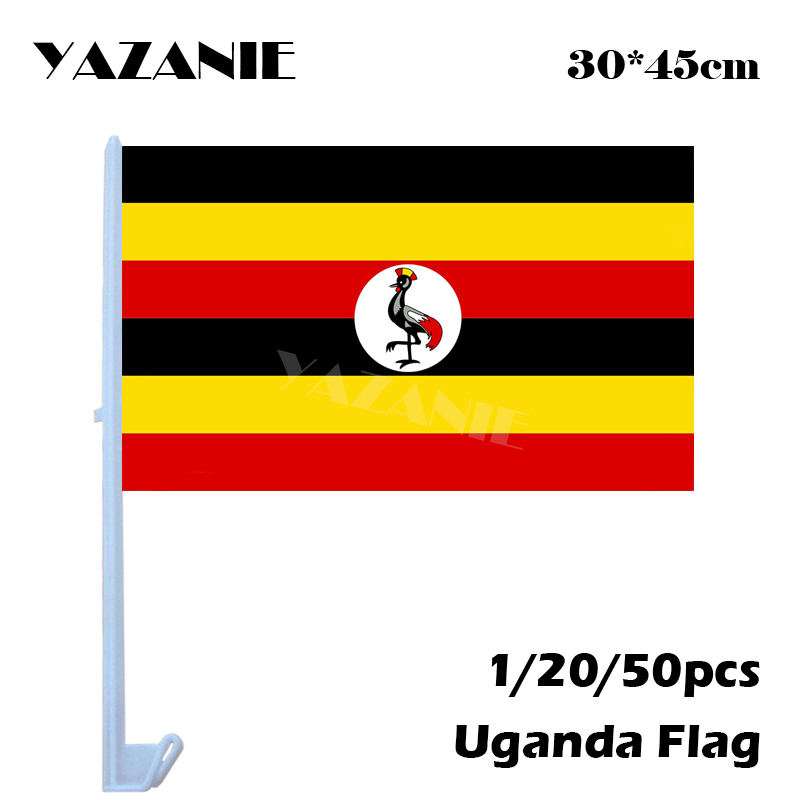 Yazanie 30 45cm 1 20 50pcs Uganda Window Car Flags And Banners Euro
