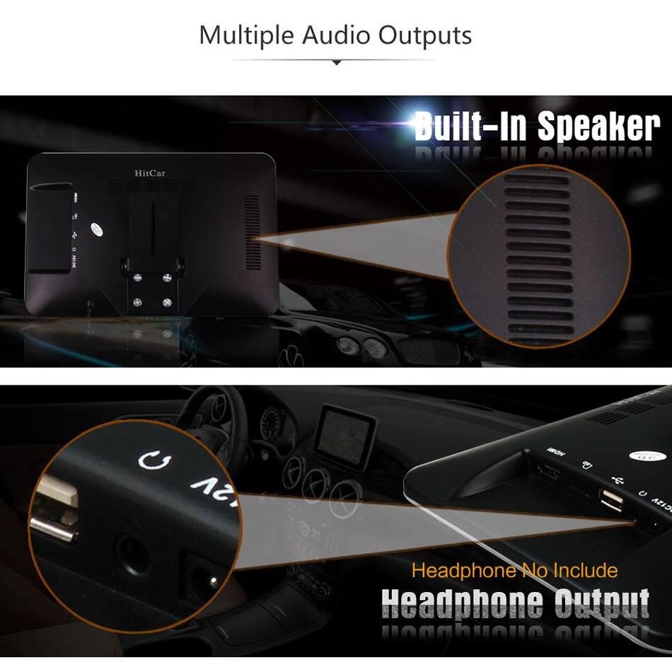 Image 5 - سوبر سليم 10 بوصة سيارة مسند الرأس الوسائط المتعددة MP4 MP5 مشغل فيديو HD شاشة رصد مع USB SD HDMI AV فتحة و FM الارسال-في شاشات السيارات من السيارات والدراجات النارية على AliExpress