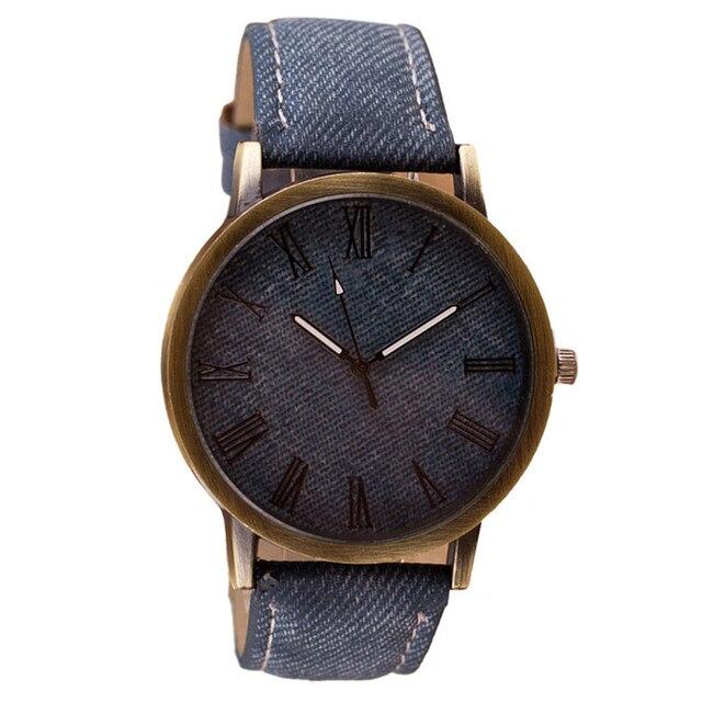 2017 New Fashion Dress Watch Women Men Leather Casual Quartz Watches Lady Mens H