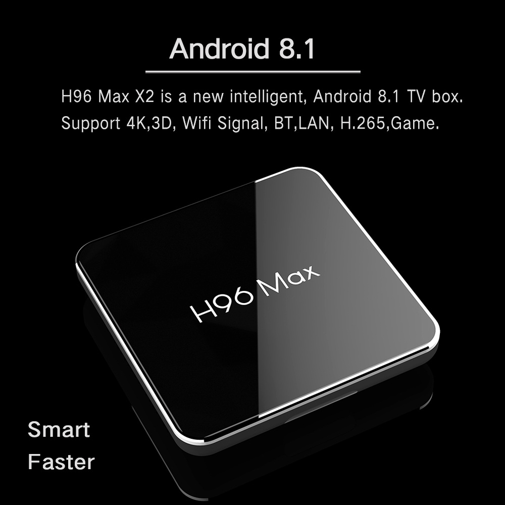 Android 8,1 4 GB 64 GB Amlogic S905X2 LPDDR4 Smart TV caja Dual Wifi H.265 1080 p 4 K USB3.0 h96 MAX X2 Control por voz de Google H96MAX - 3