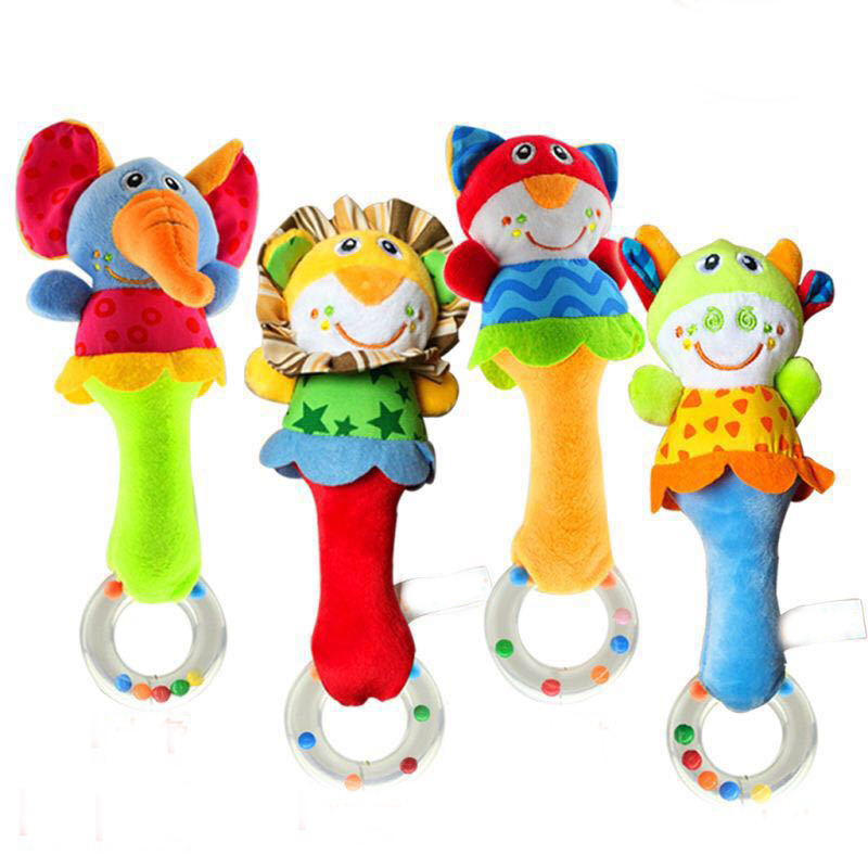 Baby Baby Rattle Cartoon Animal Bed Bell Hand Bell Soft Plush Toys Toys For Baby