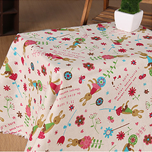 100cm*150cm/piece Cute Rabbit printed linen cotton fabric for Baby Bedding Textile Patchwork Quilt Sewing Fabric Material
