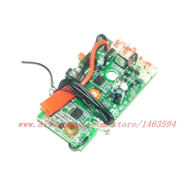 PCB board <font><b>40MHZ</b></font> for UDI U6 U6A <font><b>RC</b></font> Helicopter Spare Parts Free Shipping image