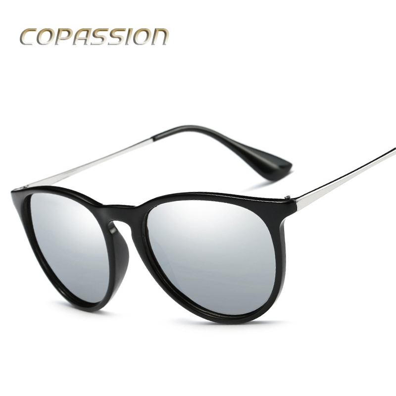 2017 New Style polarized Cat Eye sunglasses women men Brand Designer Vintage Round sunglass uv400 eyewear oculos de sol feminino