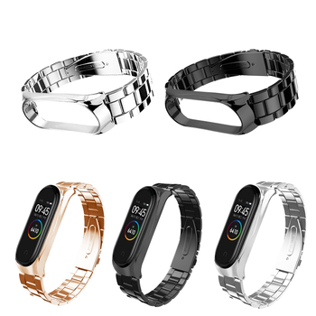 For Mi Band 4 Strap Metal Stainless Steel for Xiaomi Mi Band 3 Strap Bracelet Miband 3 Wristband Pulseira Miband 4