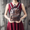 Genuine Leather Women Vintage Style Backpacks Female Fashion Casual Cowhide Leather Backpack Girls Mini Small Travel School Bag