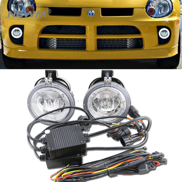 New One Set Front Per Led Daylight Fog Driving Lights For Dodge Neon 2003 2004 2005