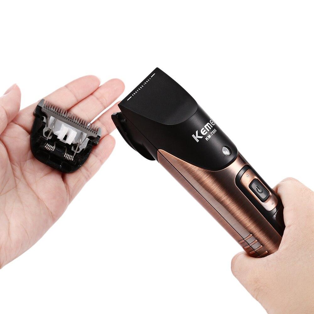 Kemei-7500 professionnel tondeuse à cheveux tondeuse Rechargeable tondeuse à barbe 10 vitesses pour hommes électrique coupe cheveux outil de coupe - 5