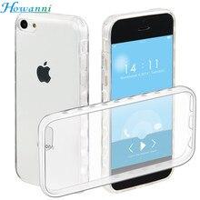 Howanni Мягкий Протектор Прозрачный Case Для Apple iPhone 5C Case 4.0 «задняя Крышка Для iPhone 5C Обложка Телефон Shell Капа