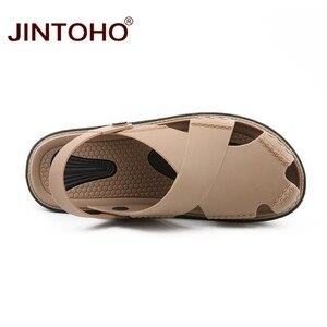 Image 5 - JINTOHO letnie męskie sandały moda lato plaża buty sandały plażowe na świeżym powietrzu mężczyzna sandały 2019 Sandalias męskie