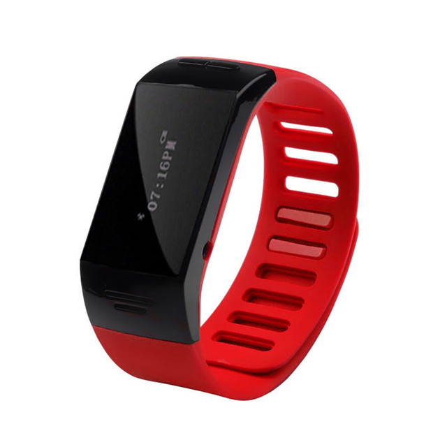 Hot Sale  Blue Smart Wrist Bluetooth Watch Bracelet Phone For IOS For Android