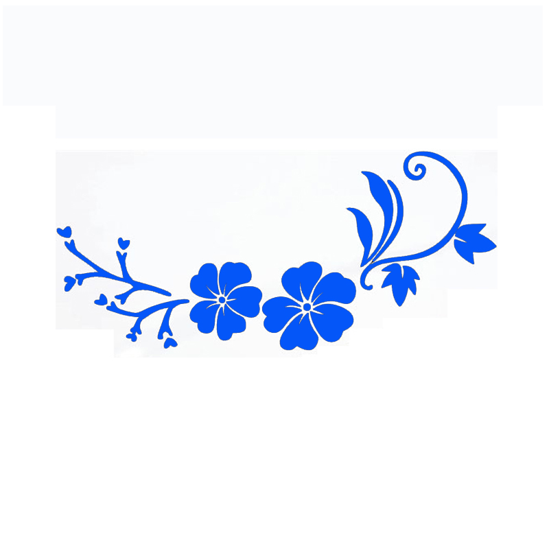 Tancredy The 2nd Half Price 18 9cm 3d Car Styling Stickers Orchid
