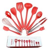 10pcs kitchen set cooking tools set environmentally friendly silicone nonstick kitchen spoon