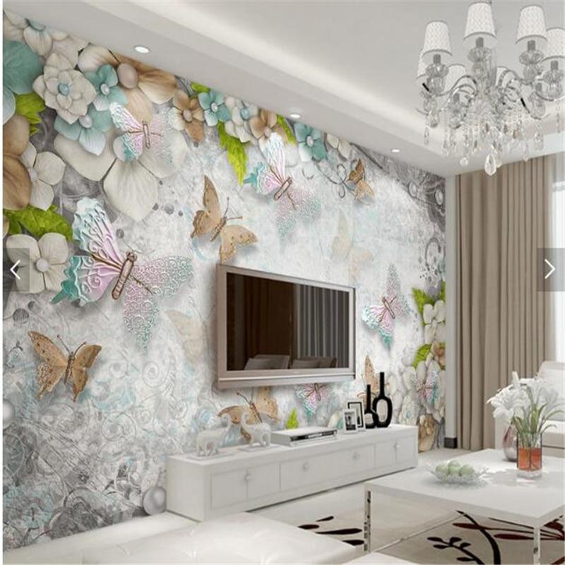 Beibehang custom photo wallpaper wall murals wall stickers for Butterfly mural wallpaper