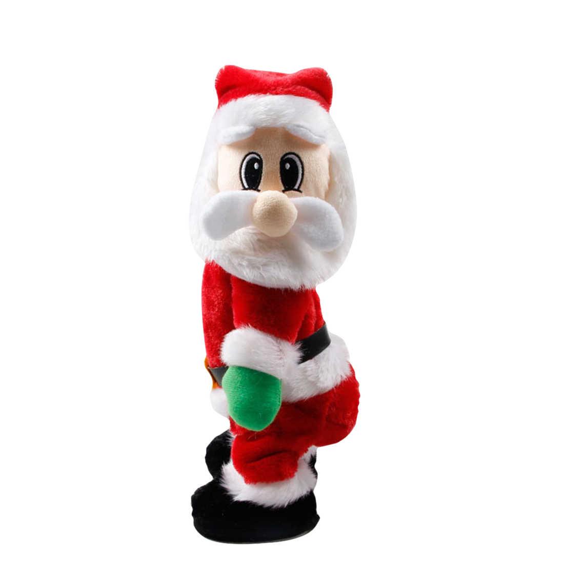 Рождество Электрический музыка игрушка Санта-Клаус кукла твист Санта Клаус для вечерние праздник DIY Рождество дома столовые принадлежности украшения