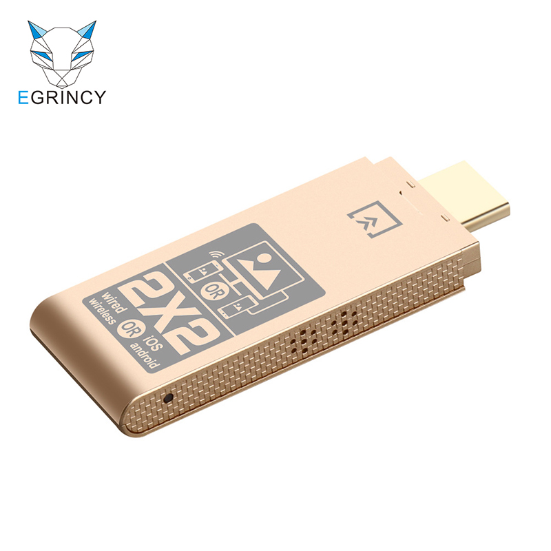 24 GHz Dual System Dual Mode HDTV Wireless & Wire HDMI Adapter 1080P Wireless Wifi Display TV Dongle For IPhone XS Max X XR 8 7