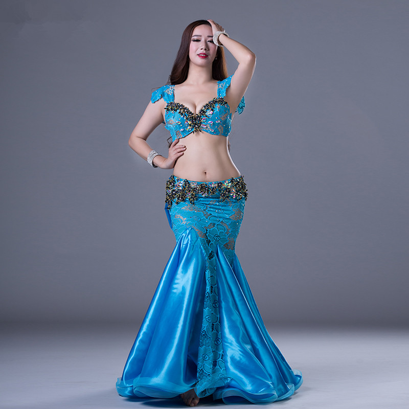 b54669f0cfb87 Bellydance oriental eastern Belly dance diamond embroidery dancing costumes  clothes bra belt scarf skirt ring dress
