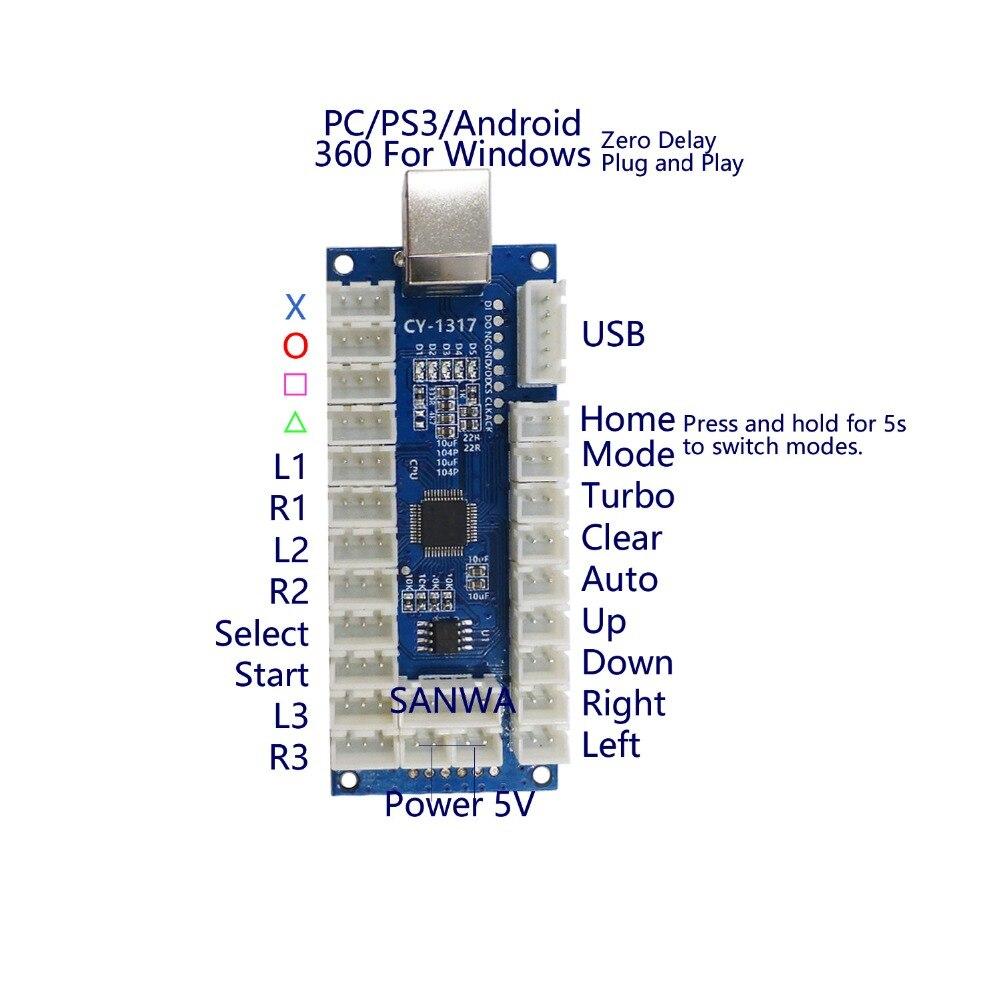 Arcade Diy Kit Led Button Controller Joystick Zero Delay Sanwa Wiring Diagram Product