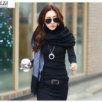 Women Velvet Wool Sweater Long Sleeves Turtleneck Pullover Winter Tops Solid Cashmere Sweater Autumn Female Plus