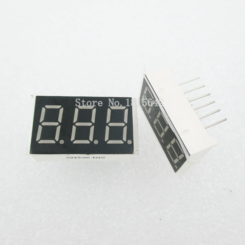 5PCS/LOT 3bit 3 Bit Common Anode Positive Digital Tube 0.36